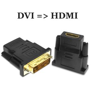 [Mã ELORDER5 giảm 10K đơn 20K] Đầu chuyển đổi DVI sang HDMI chất lượng HD