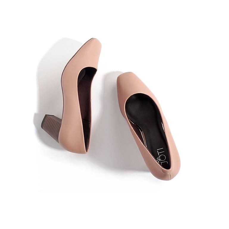 JOTI Giày Cao Gót Nữ Denise 3233VN5 2020 - Mũi Vuông Sang Trọng Đế Vân Gỗ 5cm - Mang Công Sở Đi Làm Dự Tiệc