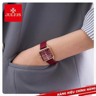 Đồng hồ nữ Julius Hàn Quốc JA-1123 dây da nhiều màu