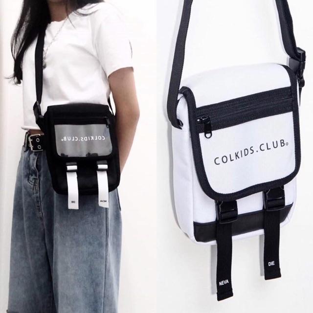 Tặng Fulltag CND Giấy Thơm | Túi Đeo Chéo Colkids - 100% BLACK PLASTIC COLKIDS.CLUB [ UNISEX ]