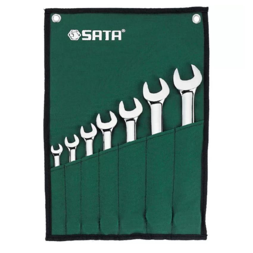 Bộ cờ lê Sata hai đầu miệng 7 chi tiết -09073