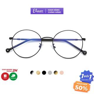 Gọng kính cận mắt tròn xoe Elmee E2626 kiểu dáng NOBITA - có cắt mắt cận thumbnail