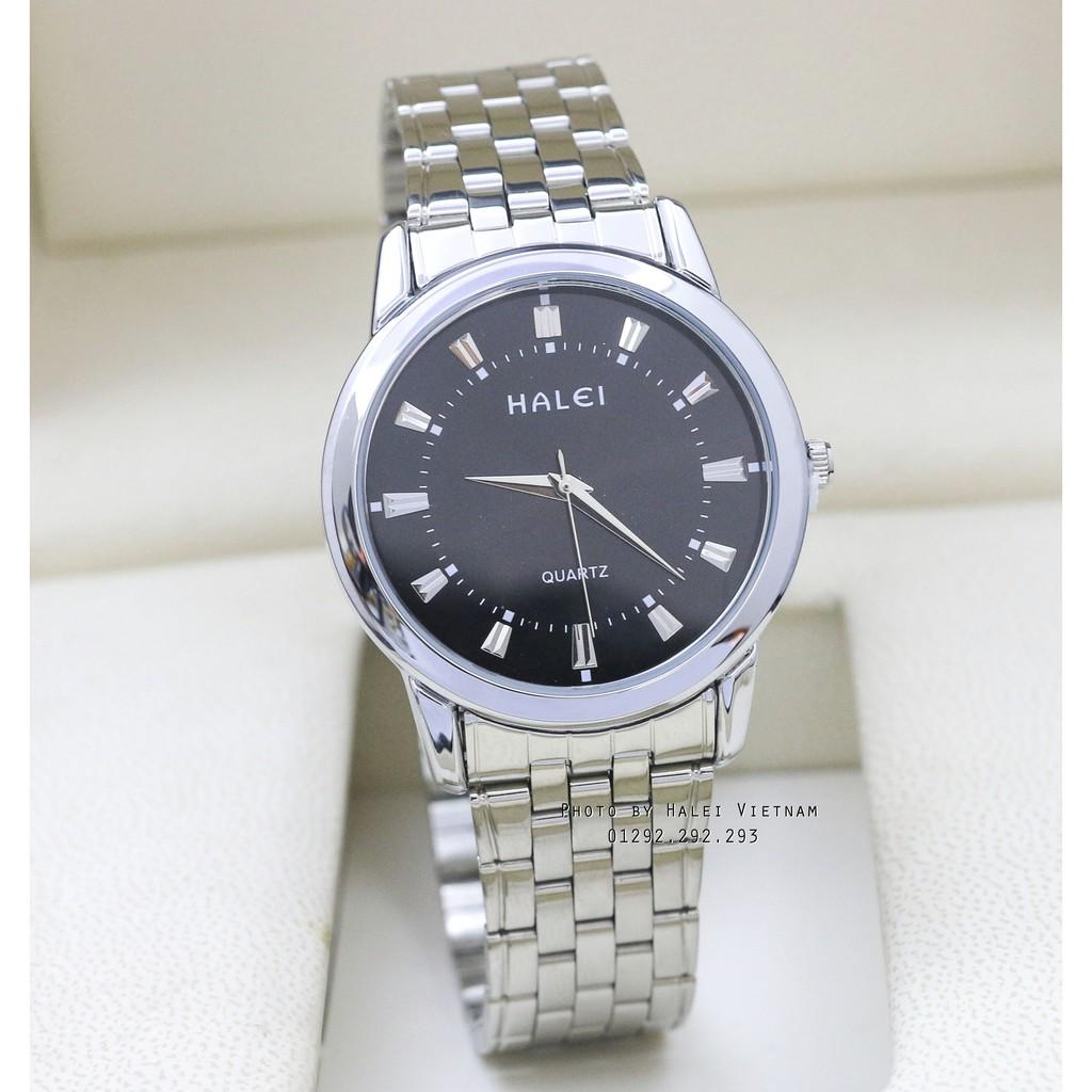 Đồng hồ nam Halei HL502 dây hợp kim trắng chống nước