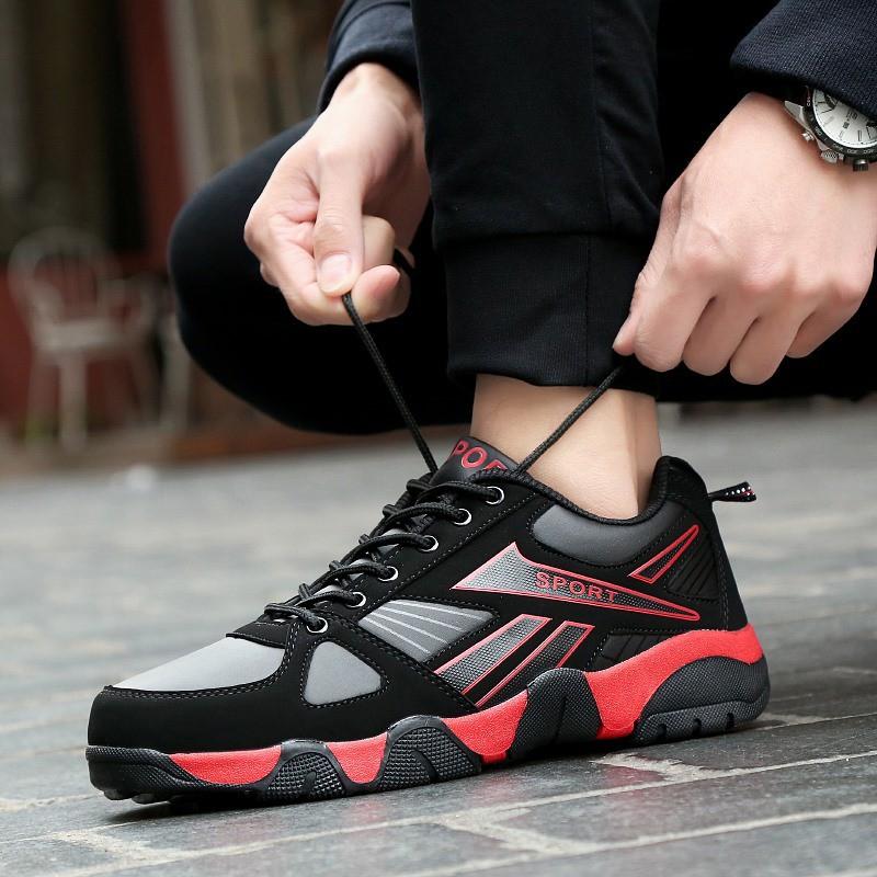 TẶNG lót tăng chiều cao_Giày nam thể thao da PU mịn cao cấp đế tổng hợp siêu nhẹ giaynam-G641 đỏ