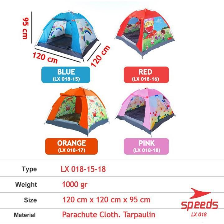 Lều Cắm Trại Mở Tự Động Họa Tiết Hoạt Hình Dễ Thương Cho Bé 018