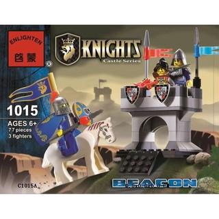 Đồ chơi lắp ráp lego lính trung cổ Knights minifigures pháo đài hiệp sĩ castle series enlighten 1015.