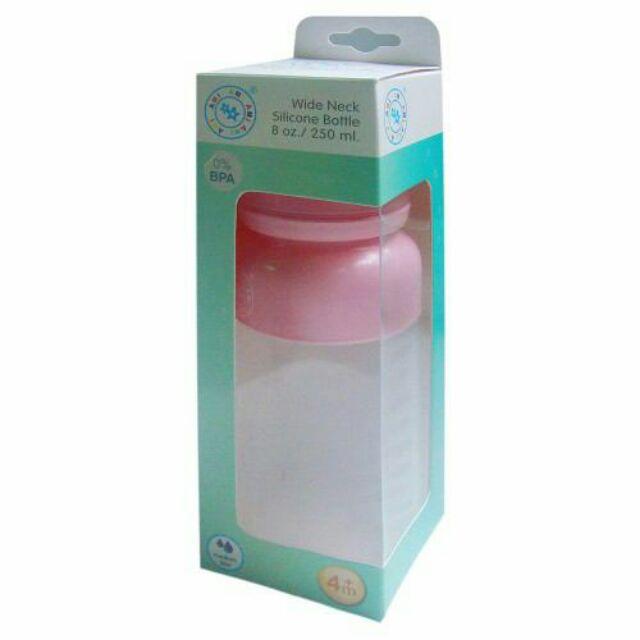 Bình sữa silicon cổ rộng Ami 250ml