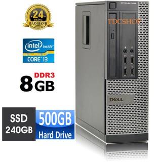 Máy tính để bàn Dell Optiplex 7010 intel CORE I3 3220, RAM 8GB, SSD 240GB, HDD 500GB. Bảo hành 24 tháng thumbnail