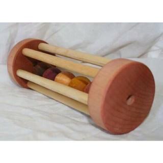 Combo 2 giáo cụ Xúc xắc lồng 5 hạt gỗ và xx2 chuông pt Thính giác cho bé