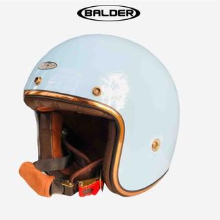 Mũ bảo hiểm 3 4 Balder Light màu xanh ngọc bóng size M L XL thumbnail