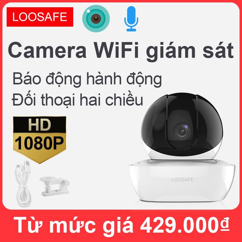 Camera quan sát WiFi không dây Full HD 1080P, Camera Wifi 360 độ, Camera IP hồng ngoại nhìn ban đêm