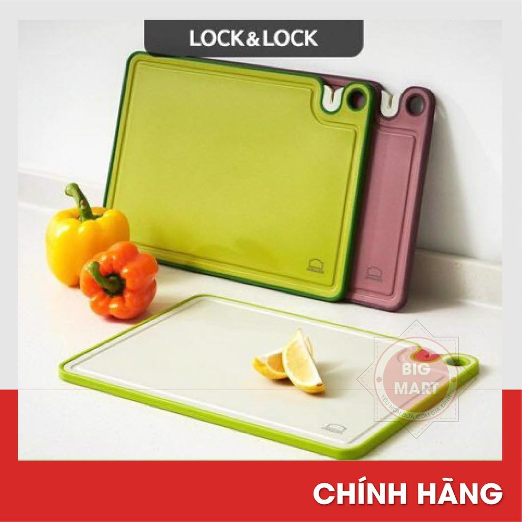 [LOCK & LOCK] Thớt kháng khuẩn cao cấp kèm mài dao tiện lợi Lock and Lock CSC401GRN