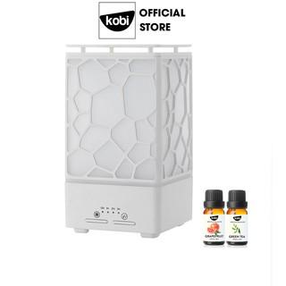 Combo máy xông tinh dầu, máy tạo ẩm Kobi Cát Tường và 2 Chai tinh dầu Kobi nguyên chất 10ml