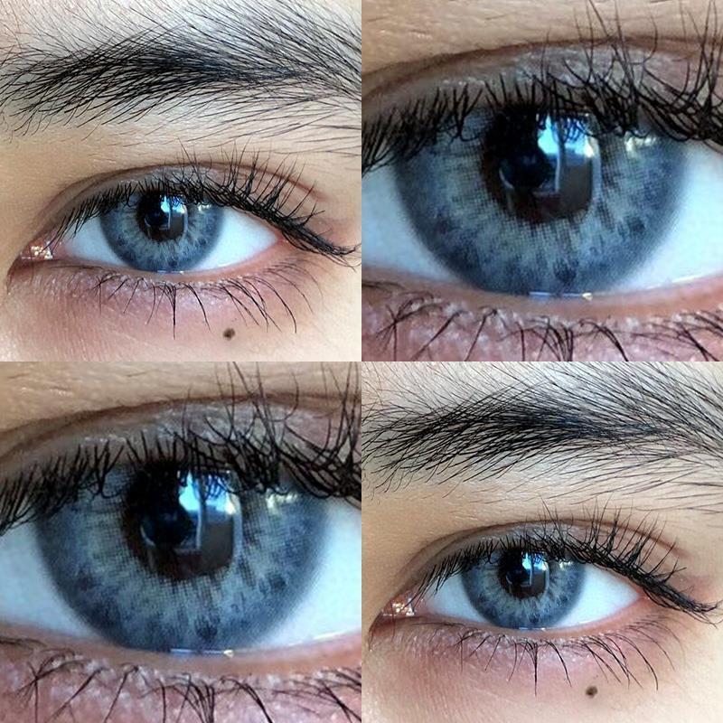 Taylor Grey Cosmetic Liên hệ Xám hỗn hợp châu Âu và Mỹ Đường kính lớn 14,8 Màu xanh Nga Ida...