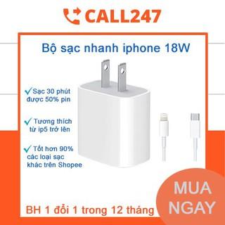 [Tặng 1 Khẩu Trang ] Sạc Nhanh Iphone Chính Hãng PD 18W USB-C Củ Cáp Sạc Nhanh USB-C To Lightning