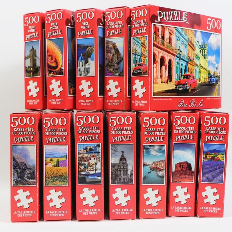 Bộ Xếp Hình 500 Miếng Bổ Ích Chất Lượng
