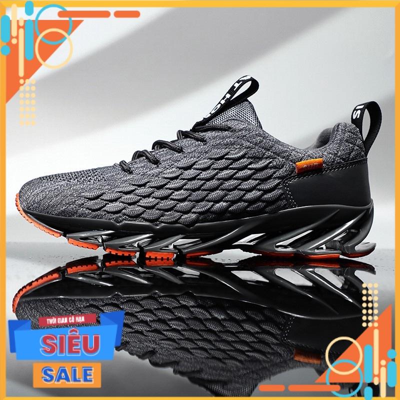 Giày nam GN328 - Giày thể thao sneaker nam cao cấp đế sóng phong cách HQ Hotrend Cá tính trẻ trung năng động