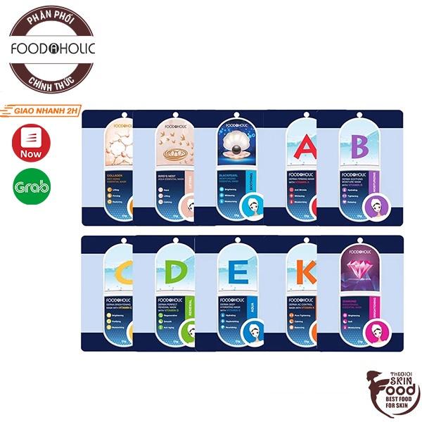 [Mã SKAMPUSH10 giảm 10% đơn 200K] Mặt nạ giấy dưỡng da Hàn Quốc Foodaholic Essential Mask 23g