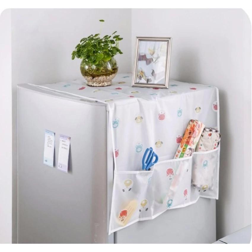 Khăn phủ tủ lạnh chống bụi bẩn (chất liệu nilon hoặc vải dệt)