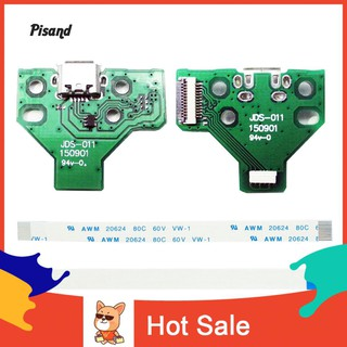 ☼Pi 2Pcs USB Charging Port Socket Board Replacement for JDS-011 Sony PS4 Controller