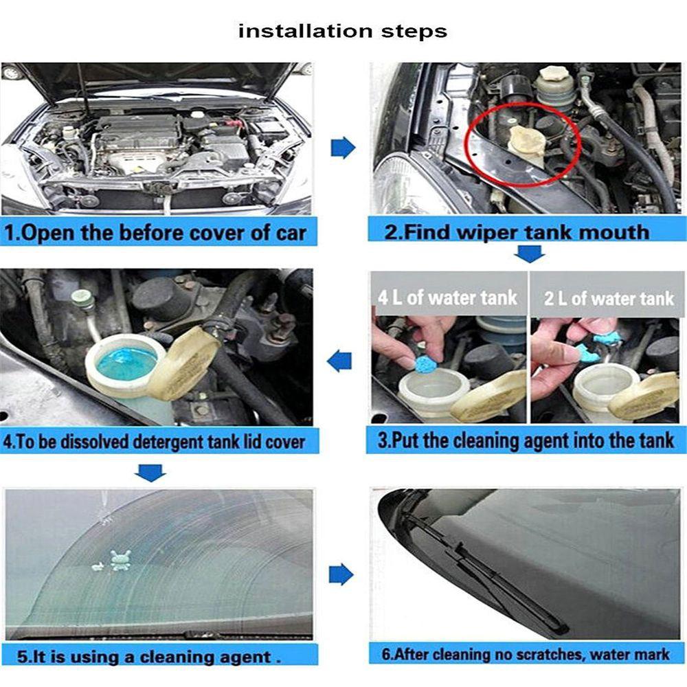 Viên sủi vệ sinh kính chắn gió xe hơi tiện lợi