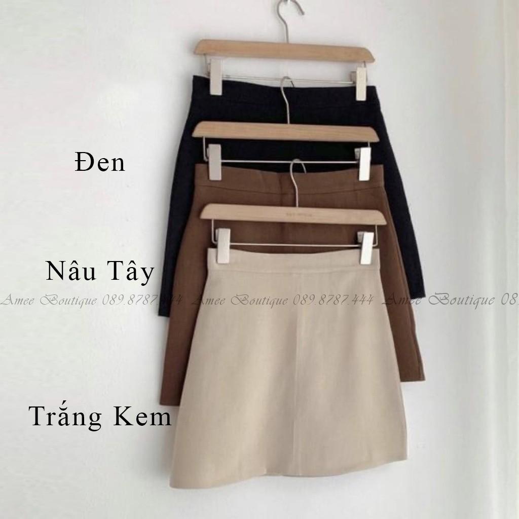 Chân Váy Chữ A, Lưng Cao Amee phong cách Hàn Quốc Có Quần Trong-CV07