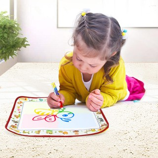 Baby Kids Doodle Water Painting Cloth Water Drawing Play Mat with Magic Pen