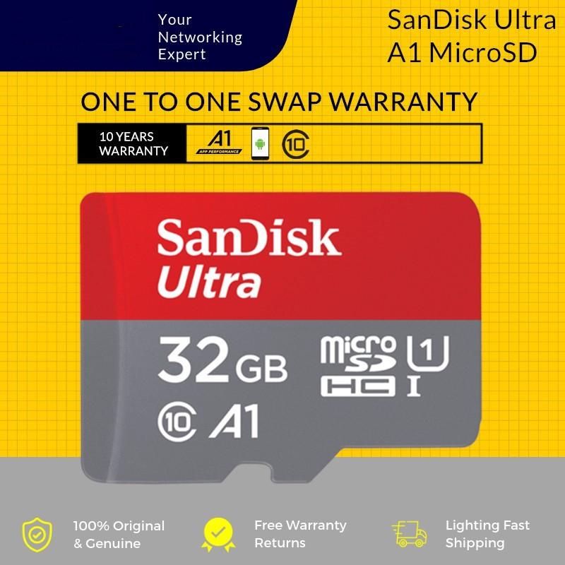 SanDisk 100MB/s ULTRA A1 32GB/64GB/128GB/200GB Class 10 MicroSD Card Micro SD