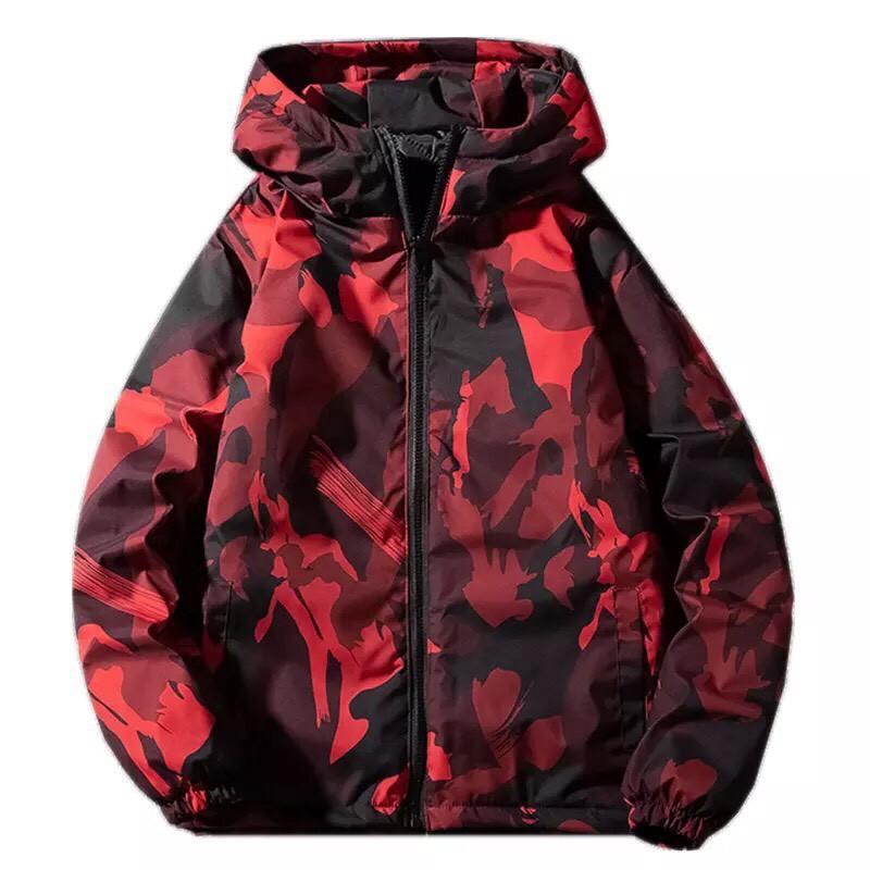 Áo khoác dù nam nữ in hình 3D, họa tiết rằn ri, chất dù hai lớp có nón dày dặn-TP109