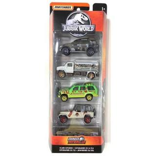 Bộ 5 xe Matchbox Jurassic World: Island Explorers