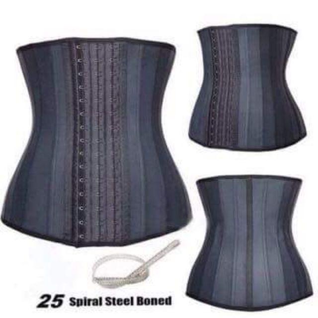 Đai định hình eo. Áo Latex 25 Xương Thép-Kết cấu 25 xương thép quanh áo, chống cuộn, giúp đỡ cột sống lưng luôn thẳng.