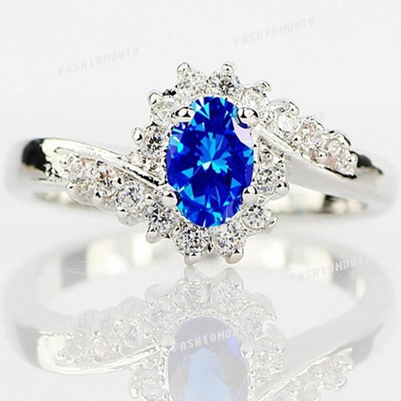 Nhẫn bạc 925 đính đá kiểu dáng sang trọng cho nữ