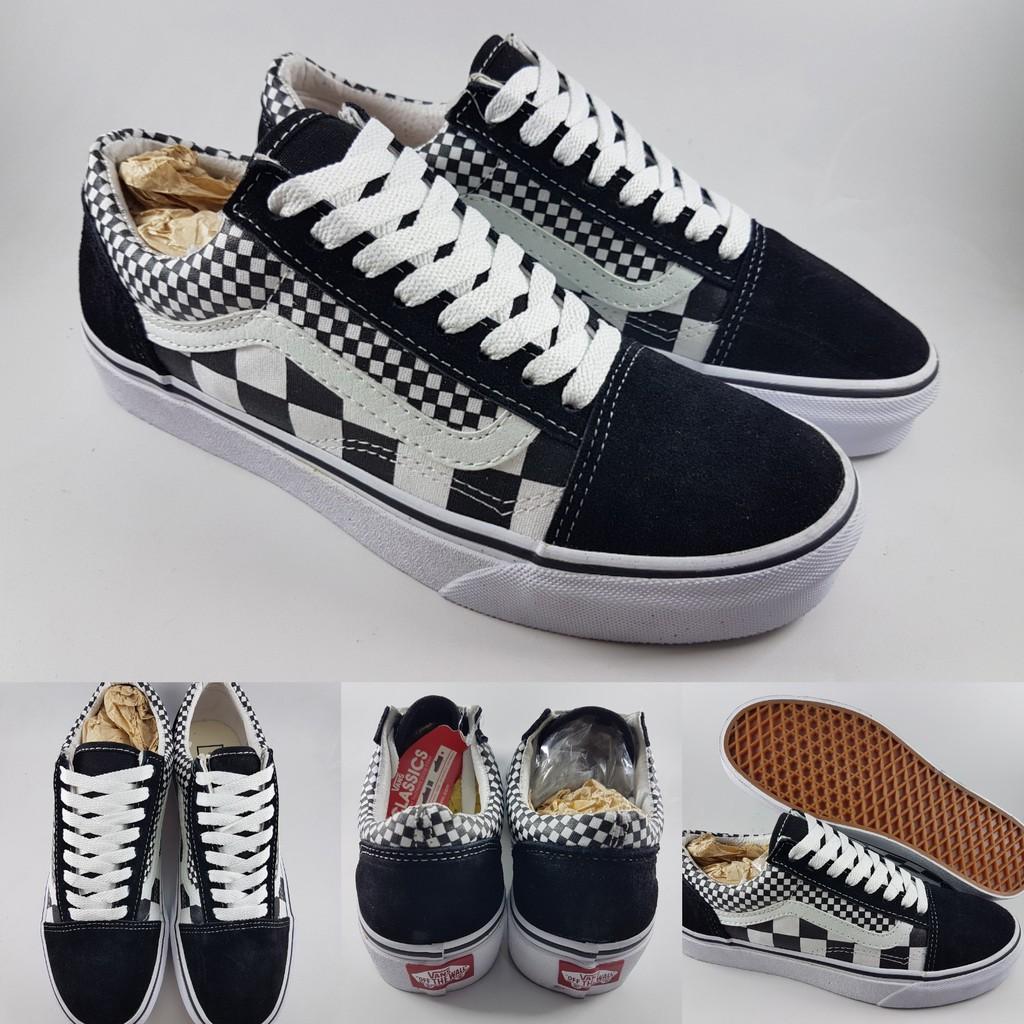 Giày Sneakers Vans Old Skool Phối Màu Đen Trắng Cá Tính