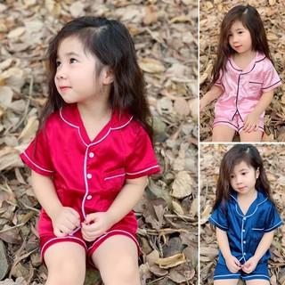 Bộ pijama lụa bé gái 8-25kg