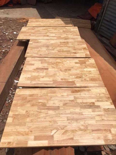 Mặt bàn gỗ cao su tự nhiên 60x80