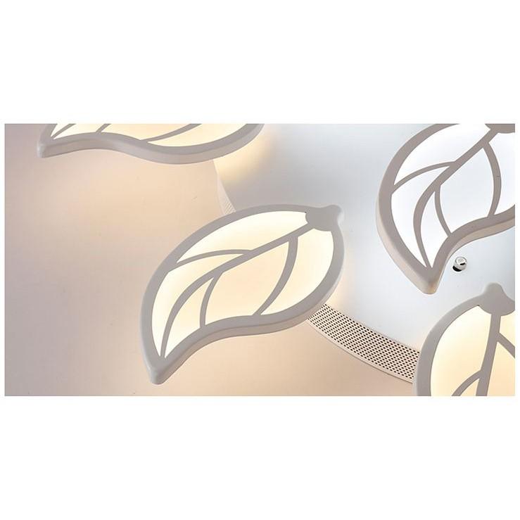 Đèn ốp trần MONSKY LED mâm lá cây Tree ba màu ánh sáng có điều khiển từ xa