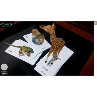 Bộ 31 thẻ học thông minh animal 4D thumbnail