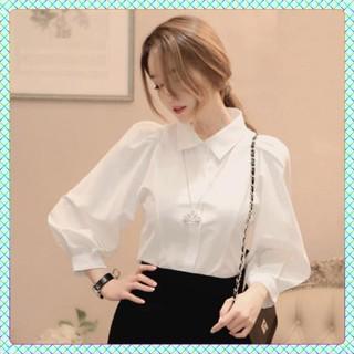 [FREESHIP] Áo Sơ Mi Nữ Trắng [Hàng Cao Cấp] áo sơ mi trắng tay bồng thời trang, chất vải đẹp, ko nhăn cao cấp