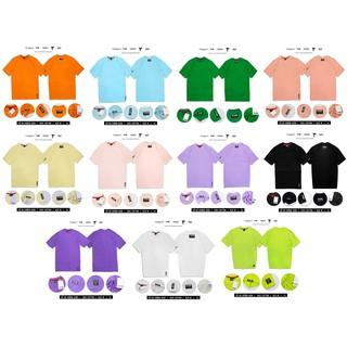 Áo thun trơn Unisex nam nữ TeeHolic màu đen, trắng, xanh neon, tan, tím, hồng, vàng thumbnail
