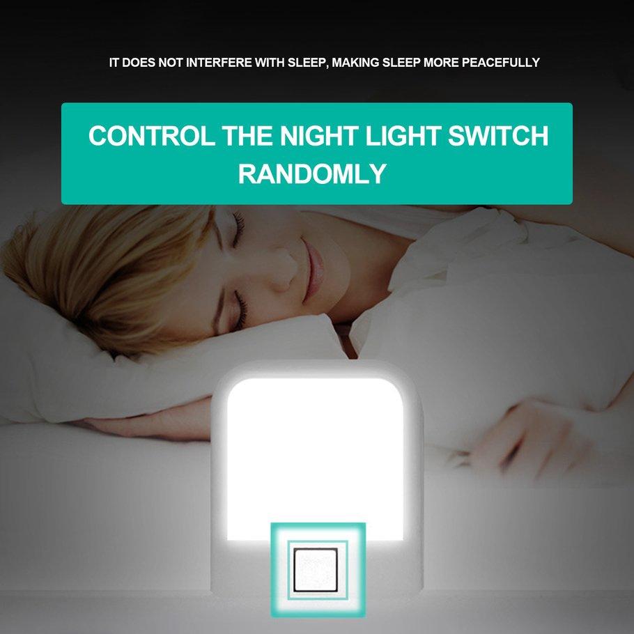 【SYH】Power Adapter Socket Nightlight Switch USB Lightningproof Wall Charge Adapter