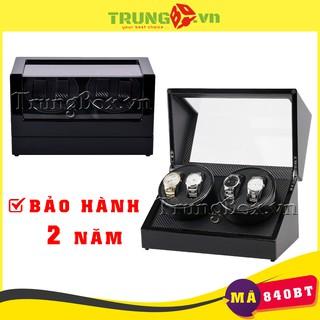 Hộp Đựng Đồng Hồ Cơ 4 Xoay Vỏ Gỗ Sơn Mài - Mã 840BT thumbnail