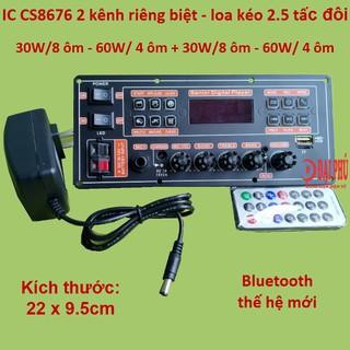 Mạch loa kéo 2 kênh IC CS8676 Bluetooth thế hệ mới, loa kéo 2.5 tấc đôi