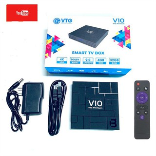 Android TV Box V10 Premium RK3318 RAM 4GB ANDROID TV 9.0 new