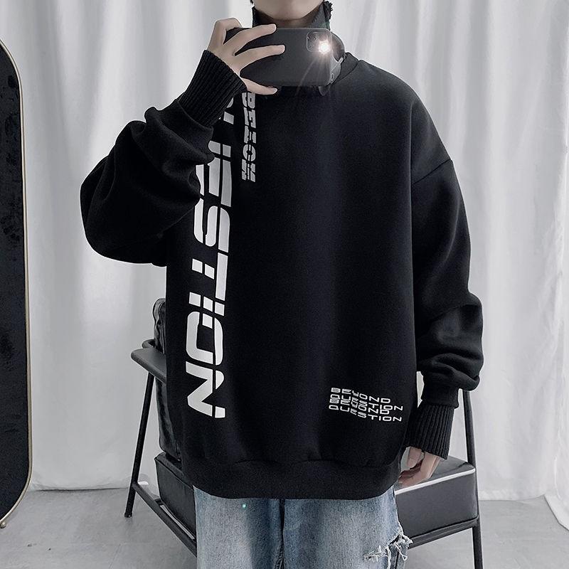 Áo Thun Sweater Dáng Rộng In Chữ