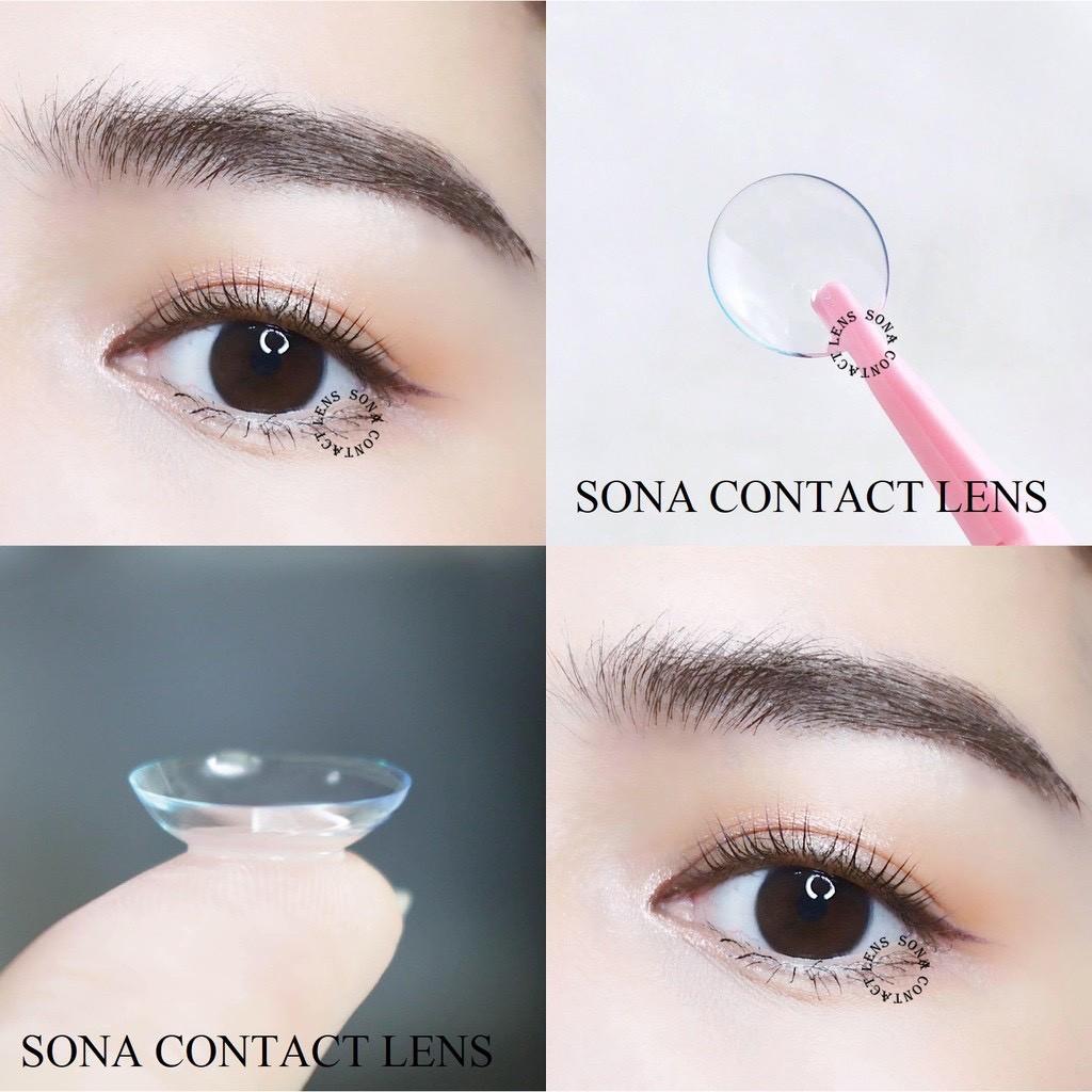 Lens cận trong suốt Hàn Quốc từ 1-8 độ tặng khay đựng