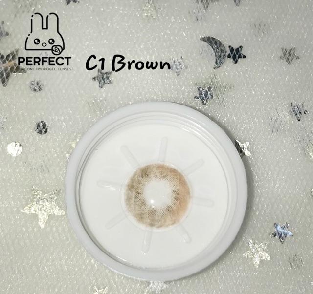 14.0 (0.00 -> 8.00) C1 Brown Kính Áp Tròng ( Giá 1 chiếc )