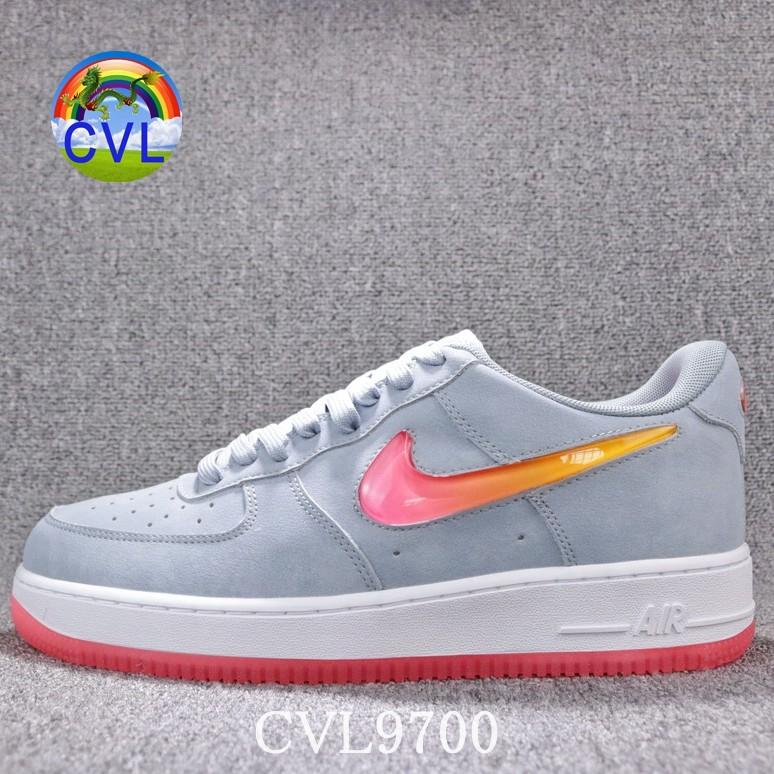 (Auth) Nike Air Force1 AF1 Air Force thạch hook màu xám xanh gradient gradient móc giày thể thao nam và nữ AT4143-400