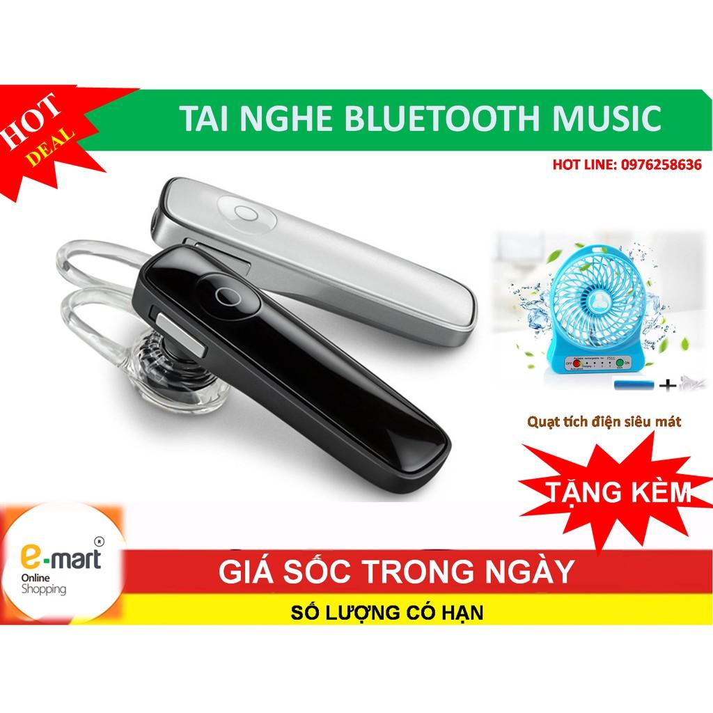 Tai nghe Bluetooth music V4.0 mới nhất + Tặng quạt tích điện siêu mát