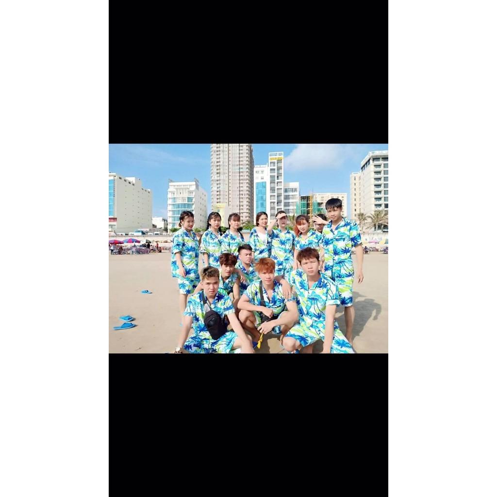 bộ đi biển cây dừa ( hàng loại 1 cao cấp )  - Đồ đôi- đồ nhóm