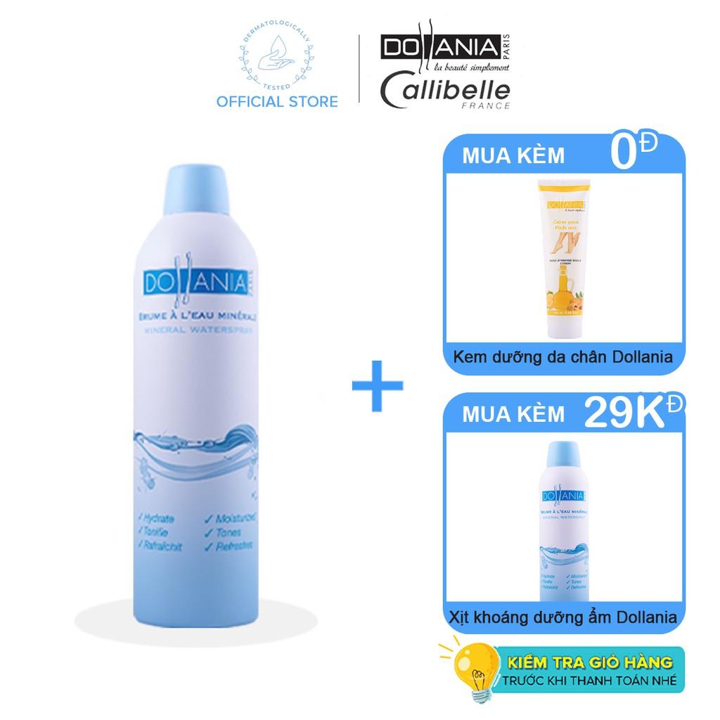 Xịt khoáng dưỡng ẩm cấp nước cho da Dollania 400ml